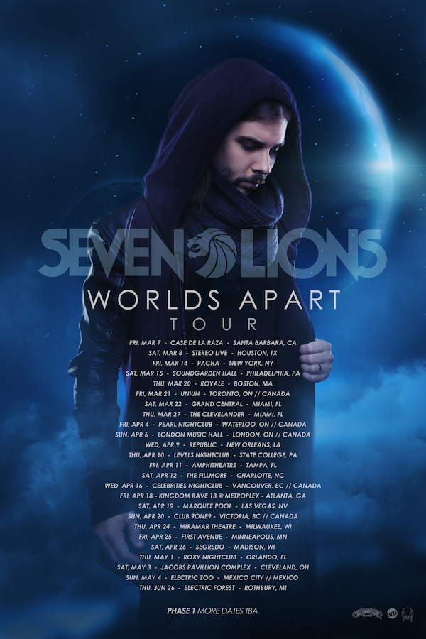 "Seven Lions Embarks On His ""Worlds Apart"" Tour"